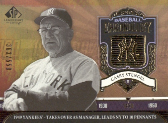 2006 SP Legendary Cuts Baseball Chronology Gold #CS Casey Stengel Yanks