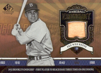 2006 SP Legendary Cuts Baseball Chronology Materials #PW Pee Wee Reese Bat