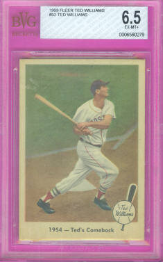 1959 Fleer Ted Williams #52 1954 Ted's Comeback