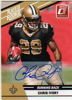 2010 Donruss Rated Rookies Autographs #18 Chris Ivory