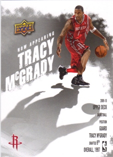 2009-10 Upper Deck Now Appearing #NA15 Tracy McGrady