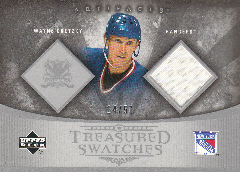 2005-06 Artifacts Treasured Swatches Copper #TSWG Wayne Gretzky front image