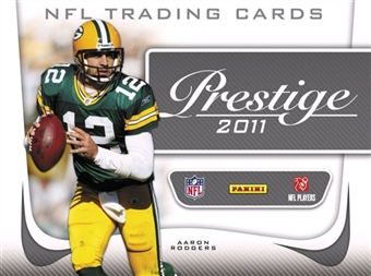 2011 Panini Playoff Prestige Football Factory Sealed Hobby Box - 4 Autograph Or Memorabilia Cards & 24 Rookies Per Box - Possible Cam Newton AJ Green + A Pack Of Card Sleeves - In Stock