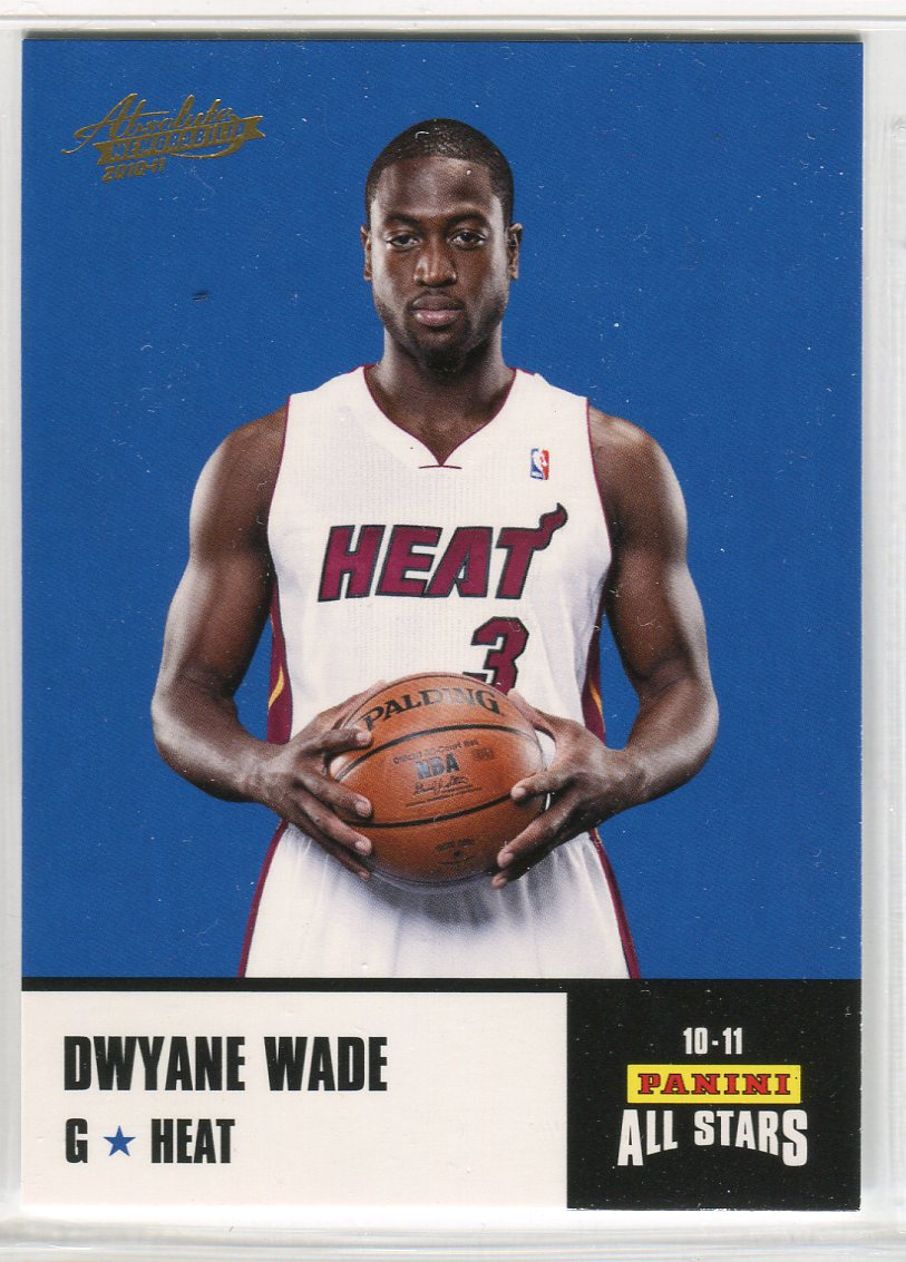 2010-11 Absolute Memorabilia Panini All Stars Rack Pack #2 Dwyane Wade