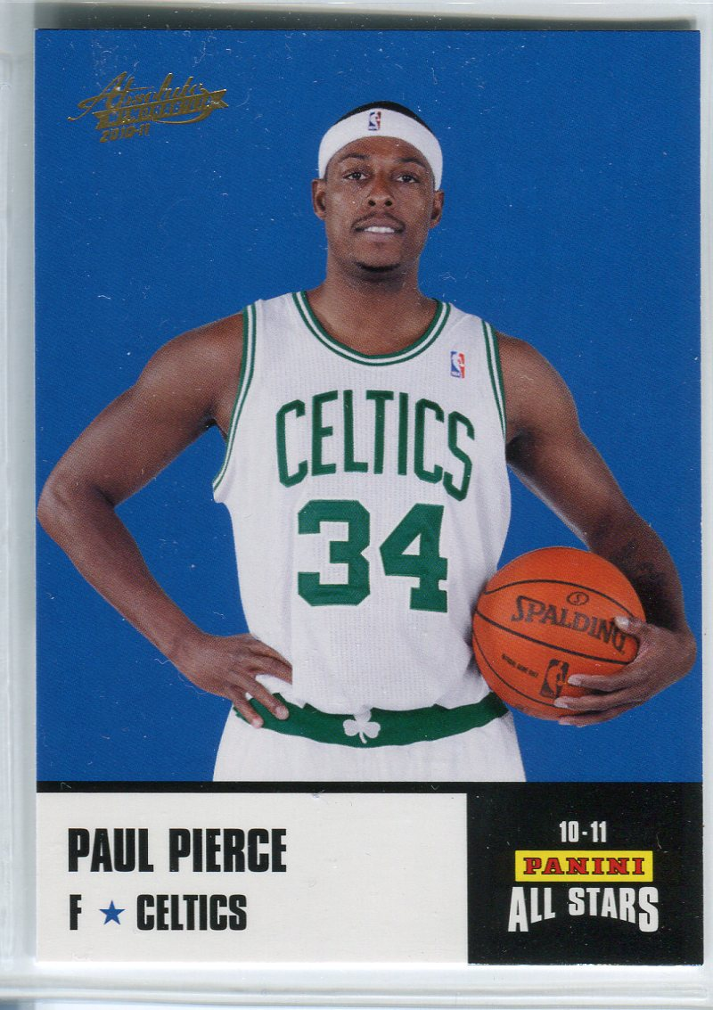 2010-11 Absolute Memorabilia Panini All Stars Rack Pack #11 Paul Pierce