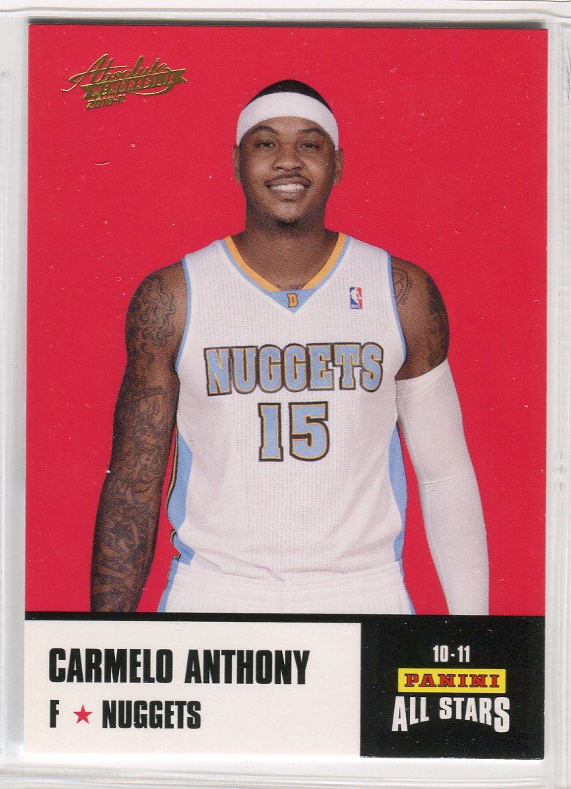 2010-11 Absolute Memorabilia Panini All Stars Rack Pack #14 Carmelo Anthony