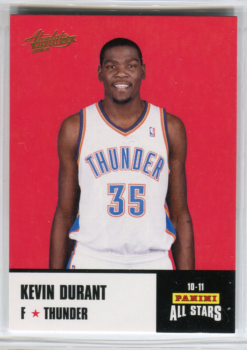 2010-11 Absolute Memorabilia Panini All Stars Rack Pack #16 Kevin Durant