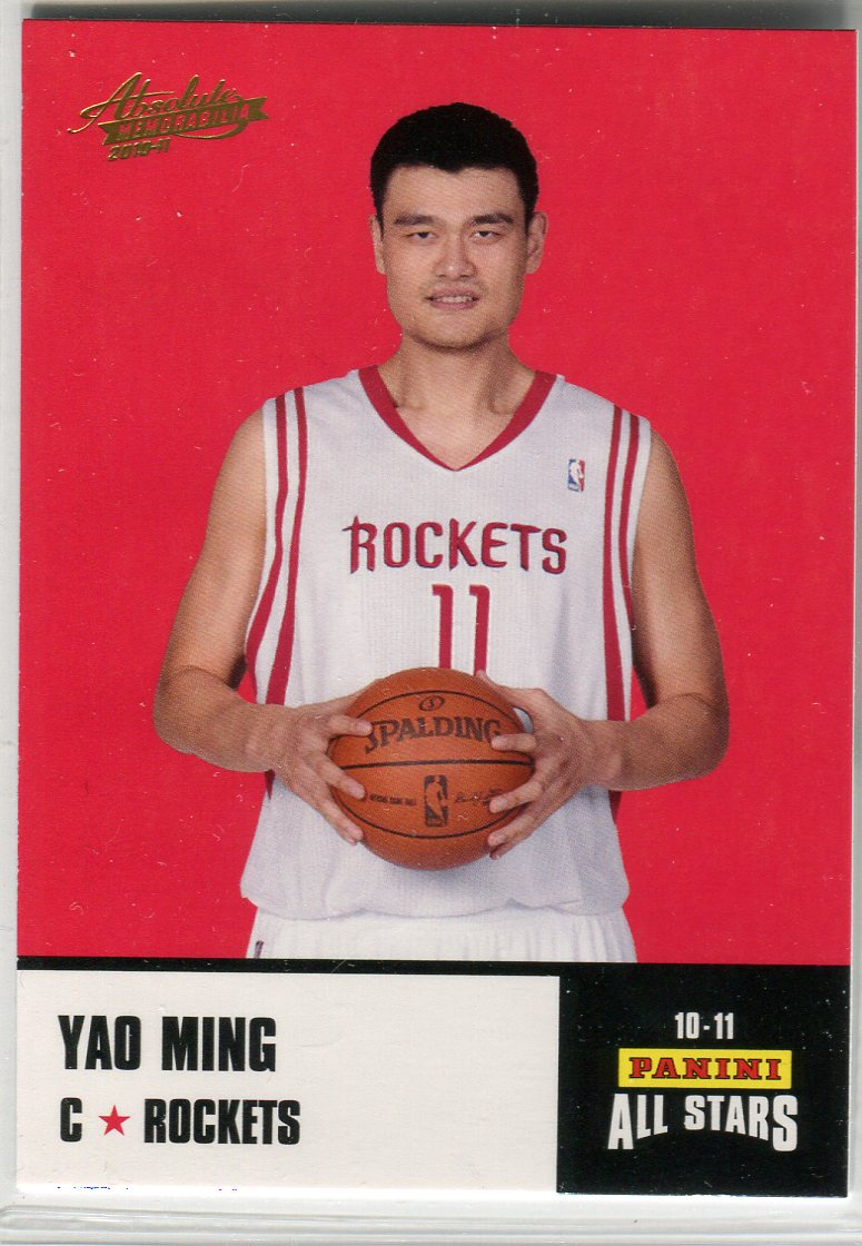 2010-11 Absolute Memorabilia Panini All Stars Rack Pack #18 Yao Ming