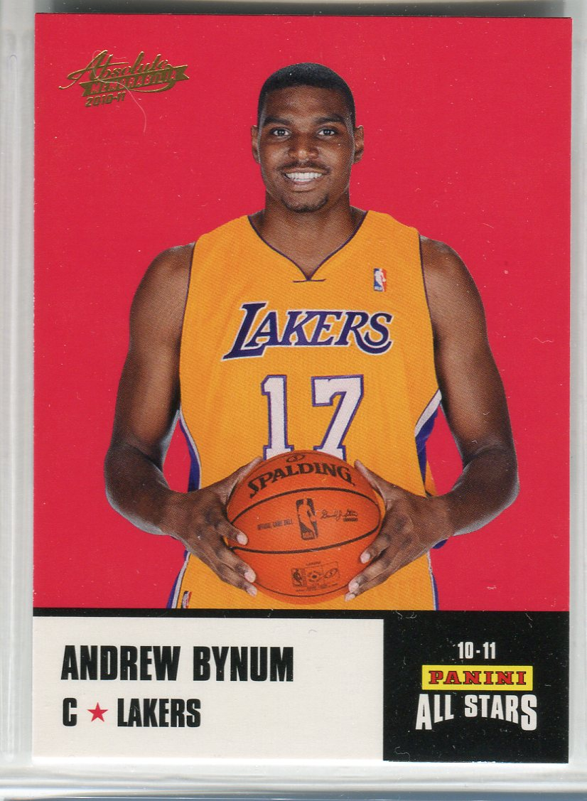 2010-11 Absolute Memorabilia Panini All Stars Rack Pack #19 Andrew Bynum