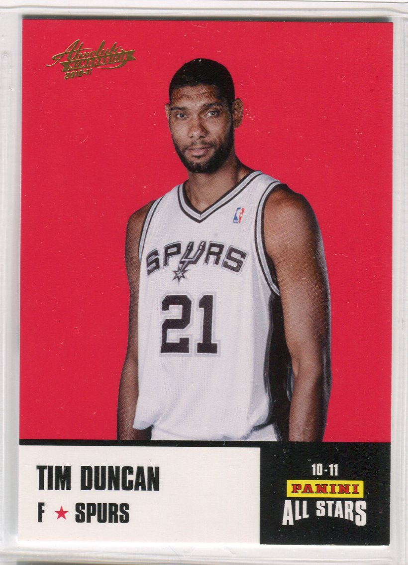 2010-11 Absolute Memorabilia Panini All Stars Rack Pack #23 Tim Duncan