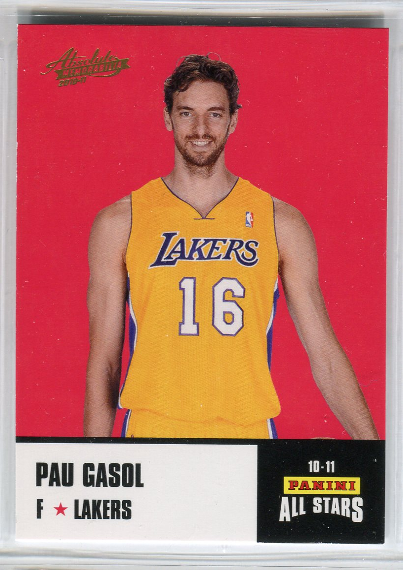 2010-11 Absolute Memorabilia Panini All Stars Rack Pack #25 Pau Gasol