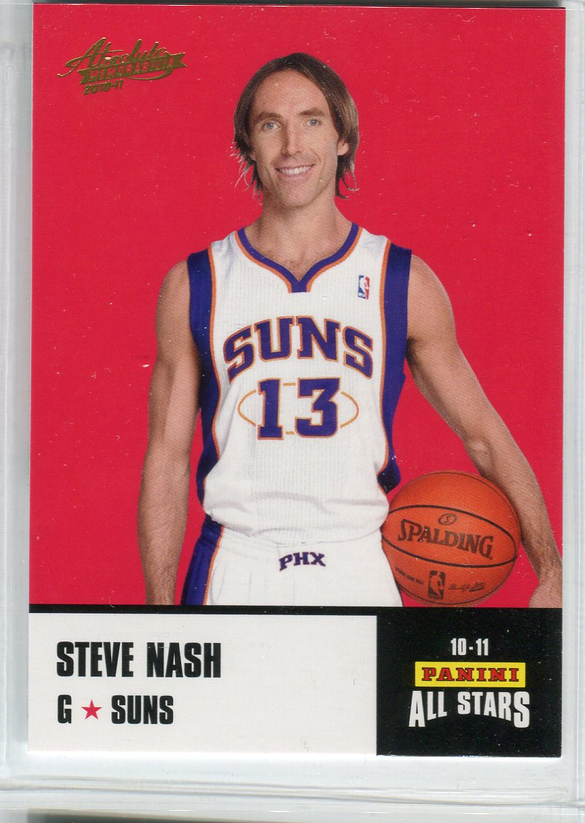 2010-11 Absolute Memorabilia Panini All Stars Rack Pack #26 Steve Nash