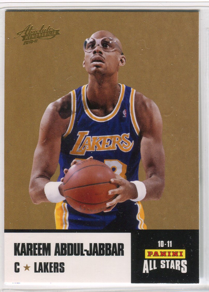 2010-11 Absolute Memorabilia Panini All Stars Rack Pack #31 Kareem Abdul-Jabbar