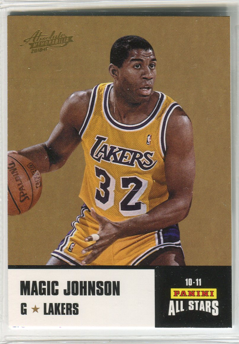 2010-11 Absolute Memorabilia Panini All Stars Rack Pack #34 Magic Johnson