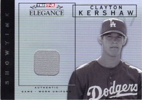 2007 TRISTAR Elegance Showtime Game Used #CK Clayton Kershaw