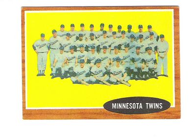 1962 Topps #584 Minnesota Twins TC SP