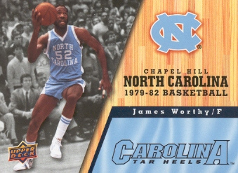 2010-11 Upper Deck North Carolina #40 James Worthy