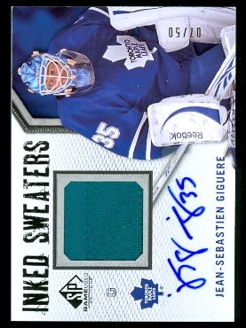 2010-11 SP Game Used Inked Sweaters #ISJG Jean-Sebastien Giguere