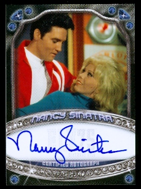 2010 Elvis Milestones Celebrity Signatures Blue #CSNS Nancy Sinatra