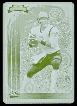 2008 Press Pass Legends Bowl Edition Top 25 Printing Plates Yellow #TT20 Troy Aikman