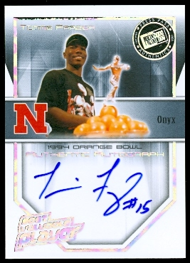 2008 Press Pass Legends Bowl Edition MVP Autographs Onyx #TF Tommie Frazier/25