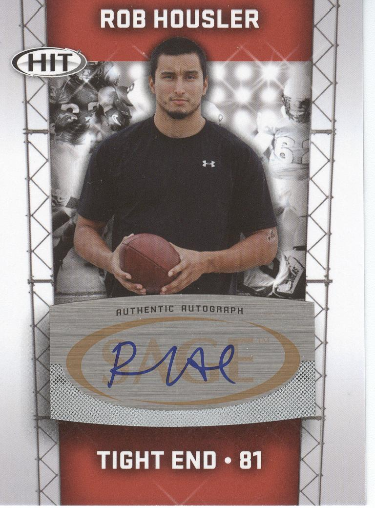 2011 SAGE HIT Autographs #34 Rob Housler