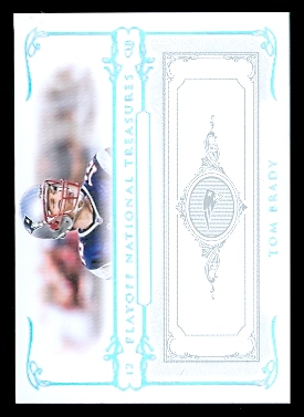 2007 Playoff National Treasures Silver #1 Tom Brady