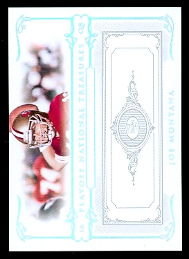 2007 Playoff National Treasures Silver #55 Joe Montana