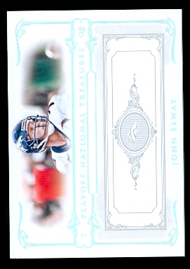 2007 Playoff National Treasures Silver #57 John Elway