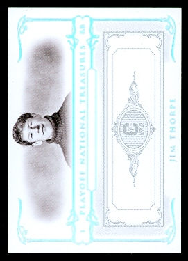2007 Playoff National Treasures Silver #98 Jim Thorpe