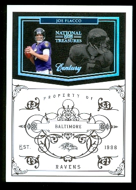 2010 Playoff National Treasures Century Silver #10 Joe Flacco