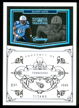 2010 Playoff National Treasures Century Silver #83 Randy Moss