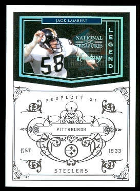 2010 Playoff National Treasures Century Silver #157 Jack Lambert