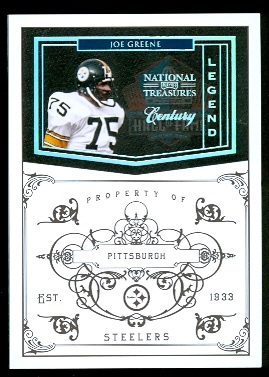 2010 Playoff National Treasures Century Silver #159 Joe Greene