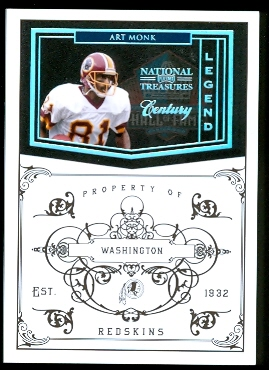 2010 Playoff National Treasures Century Silver #197 Art Monk