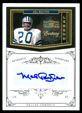 2010 Playoff National Treasures Century Gold Signature #186 Mel Renfro/25