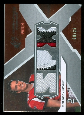 2008 SPx Rookie Materials SPX Triple Patch 25 #RMMR Matt Ryan