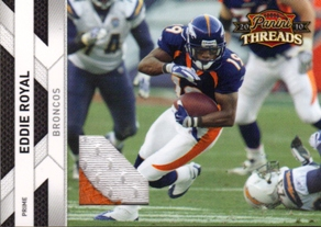 2010 Panini Threads Jerseys Prime #42 Eddie Royal/50