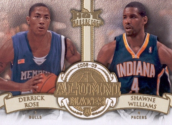 2008-09 Hot Prospects Alumni Mates #AM10 Derrick Rose/Shawne Williams