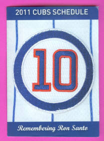 2011 Chicago Cubs Baseball Pocket Schedule (Ron Santo Cover)