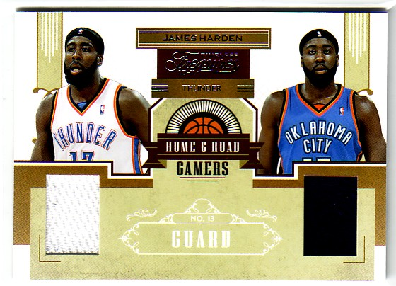 2010-11 Timeless Treasures Home and Road Gamers #27 James Harden/99