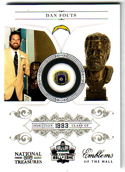 2010 Playoff National Treasures Emblems of the Hall #10 Dan Fouts