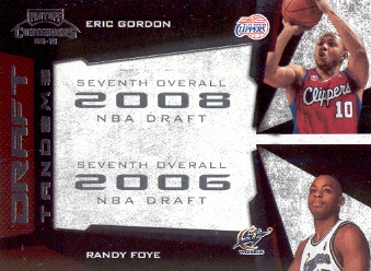 2009-10 Playoff Contenders Draft Tandems #5 Eric Gordon/Randy Foye