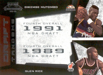 2009-10 Playoff Contenders Draft Tandems #10 Dikembe Mutombo/Glen Rice