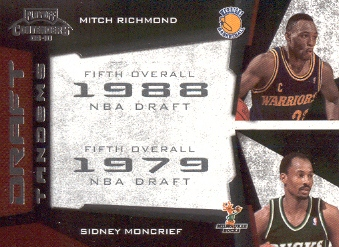 2009-10 Playoff Contenders Draft Tandems #11 Mitch Richmond/Sidney Moncrief