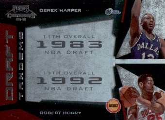 2009-10 Playoff Contenders Draft Tandems #14 Derek Harper/Robert Horry