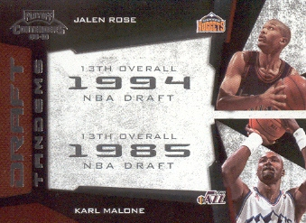 2009-10 Playoff Contenders Draft Tandems #15 Jalen Rose/Karl Malone