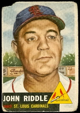 1953 Topps #274 John Riddle CO