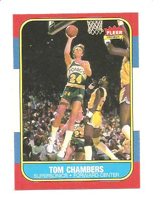 1986-87 Fleer #15 Tom Chambers RC