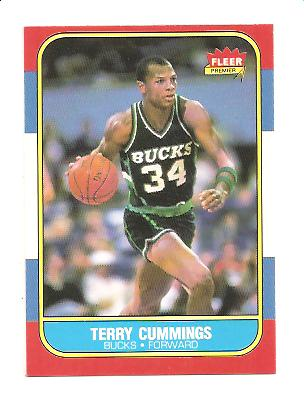 1986-87 Fleer #20 Terry Cummings RC